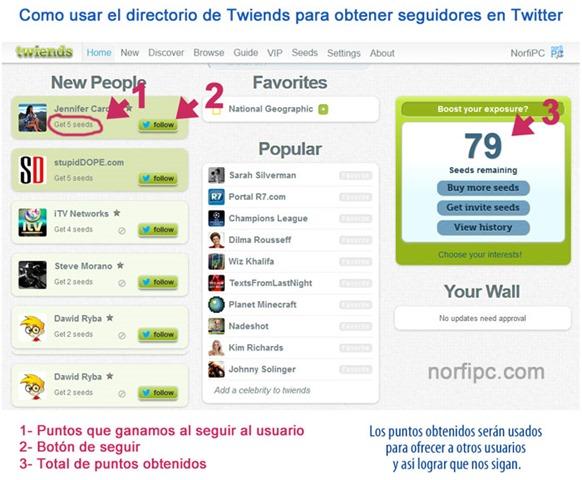 Como usar el directorio de Twiends para obtener seguidores en Twitter